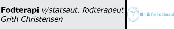 LOGO til fodterapeut Grith Christensen i Odense SØ